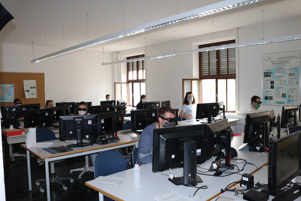Students in the practice lab